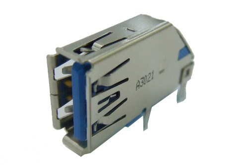 USB 3.0 A Type Single Port Receptacle R/A, Upright Dip Type