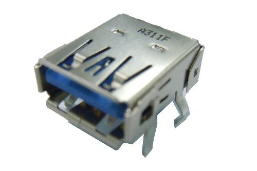 USB3.0 A Type Single Port Receptacle R/A, Dip Type