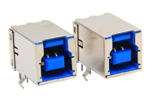 USB 3.0 B TYPE RECEPTACLE RA DIP PD TYPE CONNECTOR